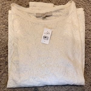 LOFT white/cream long sleeve blouse new with tag